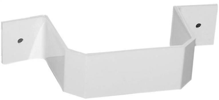 DOWNSPOUT BRACKET 3X4IN WHITE