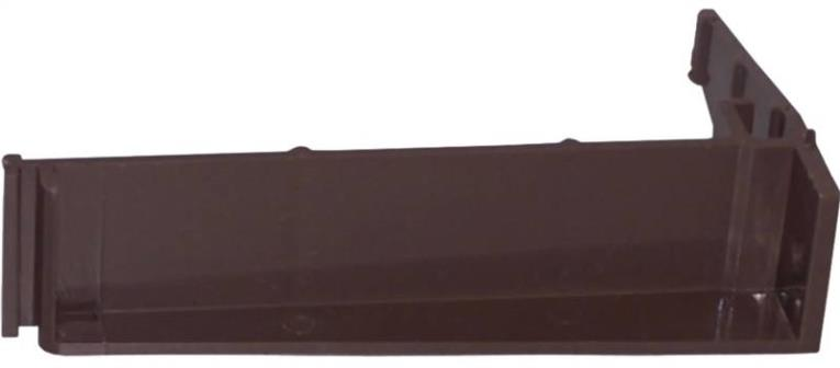 GUTTER BRACKET BROWN VINYL