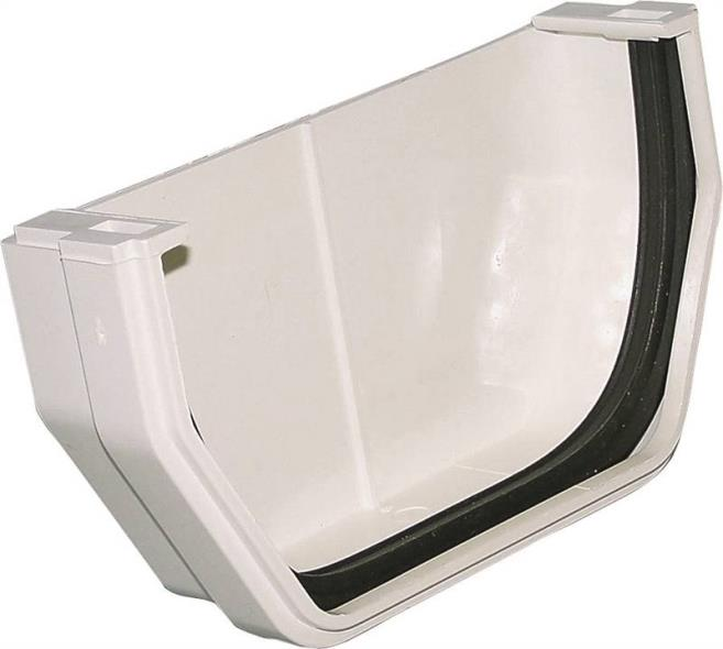 Raingo RW102 Outside Gutter End Cap, 2.8 in L X 1.4 in W X 5.2 in H, For Use With Gutter Fitting