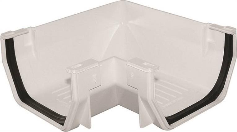 GUTTER CORNER WHITE PLSTC PVC
