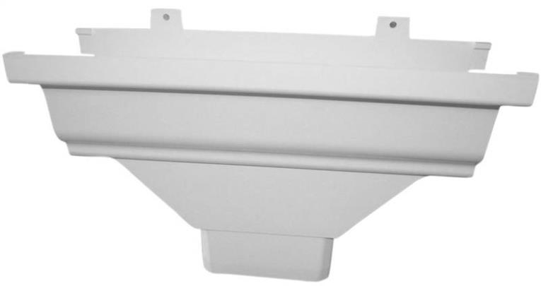 GUTTER DROP OUTLET 3X4IN WHITE