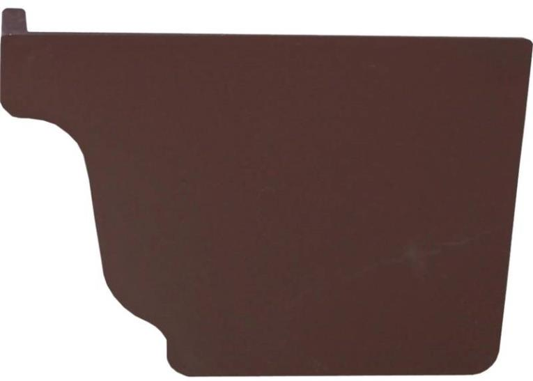 GUTTER END CAP RIGHT BROWN