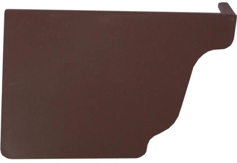 GUTTER END CAP LEFT BROWN