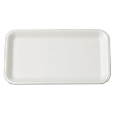 Supermarket Tray, Foam, White, 8-1/4x4-3/4, 125/Bag