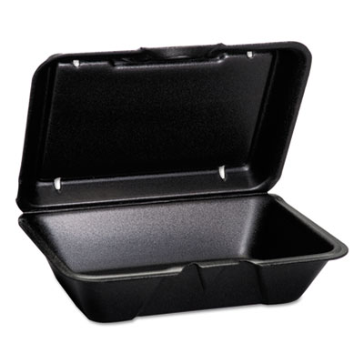 Hinged-Lid Foam Carryout Containers, Deep, 9 1/4x6 1/2x2 7/8, 100/Bag, 2 Bg/Ctn