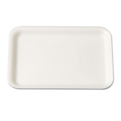 Supermarket Tray, Foam, White, 8-1/4x5-3/4, 125/Bag