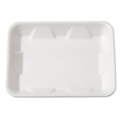 Supermarket Tray, Foam, White, 9-1/4 x 7-1/4 x 4/5, 125/Bag