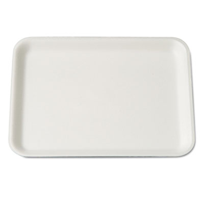 Supermarket Tray, Foam, White, 9-1/4x7-1/4x1/2, 125/Bag