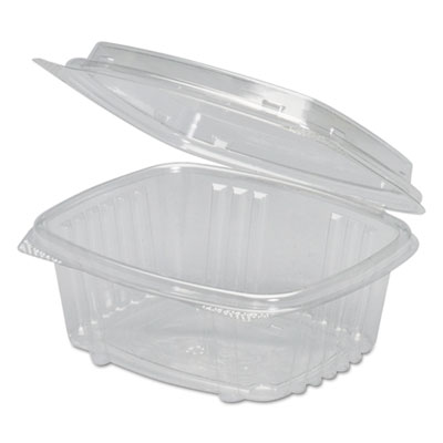 Clear Hinged Deli Container, APET, 12 oz, 5 3/8 x 4 1/2 x 2 7/8, 200/Carton