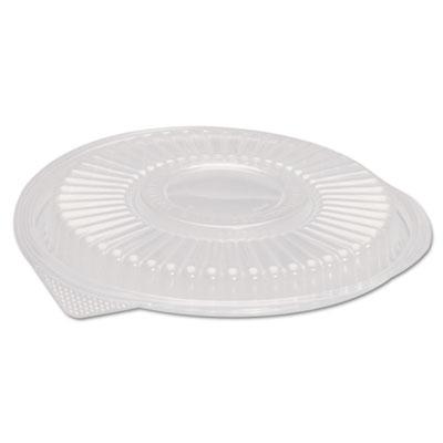 "Plastic Dome Lid, Black, Round, 10 1/3"" Dia, 75/PK 4 PK/CT"