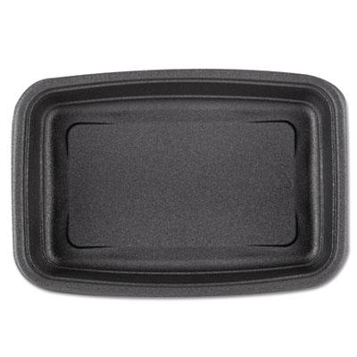 Microwave-Safe Containers 24oz Plastic Black, 8-3/4x6-1/8x1-1/2, 75/BG 4 BG/CT