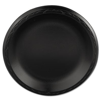 Elite Laminated Foam Plates, 8.88 Inches, Black, Round, 125/Pack, 4 Pack/Carton