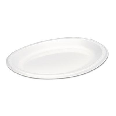 Elite Laminated Foam Platters, 8 1/2 x 11 1/2, White, 125/Pack, 4 Pack/Carton