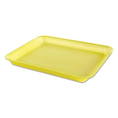 Processor/Heavy Supermarket Tray, Yellow, 10-1/2x8-1/4x1-1/8, 100/Bag, 4/CT