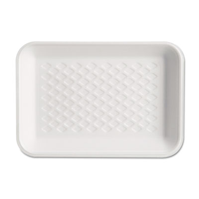 Supermarket Tray, Foam, White, 8-1/4x5-3/4x1, 125/Bag