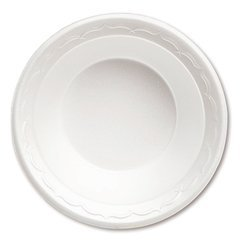 Foam Dinnerware, Bowl, 12oz, White, 125/Pack, 8 Packs/Carton