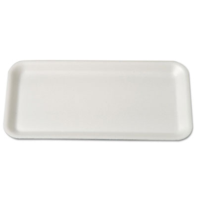 Supermarket Trays, Foam, White, 10 3/4 x 5 3/4 x 1/2