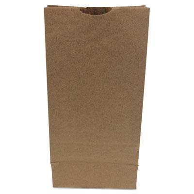 #10 Paper Grocery Bag, 50lb Kraft, Heavy-Duty 6 5/16 x4 3/16 x13 3/8, 500 bags