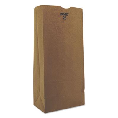 #25 Paper Grocery Bag, 40lb Kraft, Standard 8 1/4 x 5 1/4 x 18, 500 bags