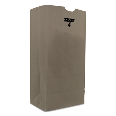 #4 Paper Grocery Bag, 30lb White, Standard 5 x 3 1/8 x 9 3/4, 4000 bags