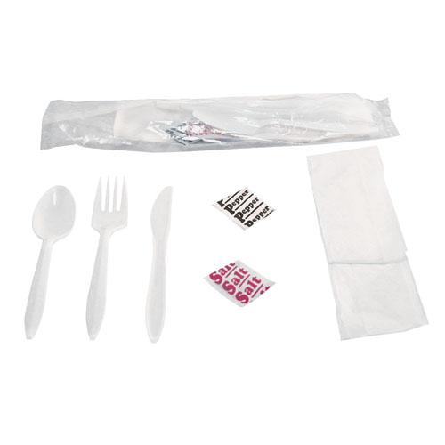 Six Piece Wrapped Cutlery Kit, 250 Kits