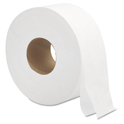 "Jumbo Roll Bath Tissue, Septic Safe, 2-Ply, White, 3.3"" x 700 ft, 12/Carton"