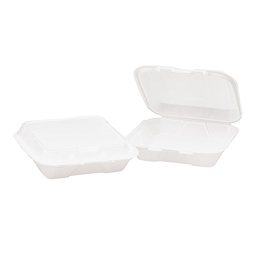 1 Compartment Foam Hinged Containers, 200 Containers