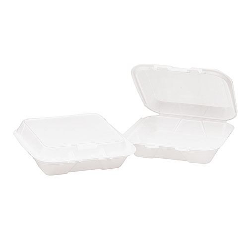 3 Compartment Foam Hinged Containers, 200 Containers