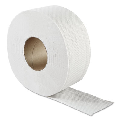 "JRT Jumbo Bath Tissue, 2-Ply, White, 3.3"" x 500 ft, 8.85""Dia, 12/CT"