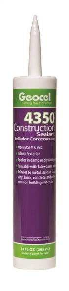 Geocel 58801 Scypolomer Sealant, 10 oz, Cartridge, White