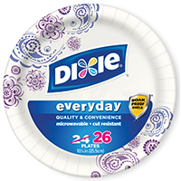 Dixie 15132 Disposable, Heavy Duty Paper Plate, 26 Count Capacity, 10-1/4 in Dia