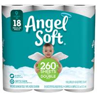 Georgia-Pacific 77171 Angel Soft Bathroom Tissue, 2 Ply, 9 Roll, Paper, White