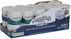 ANGEL SOFT PS ULTRA� 2-PLY PREMIUM EMBOSSED BATHROOM TISSUE, WHITE, CONVENIENCE PACK, 20 ROLLS PER CASE