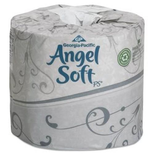 Angel Soft ps Premium Bathroom Tissue, 450 Sheets/Roll, 80 Rolls/Carton