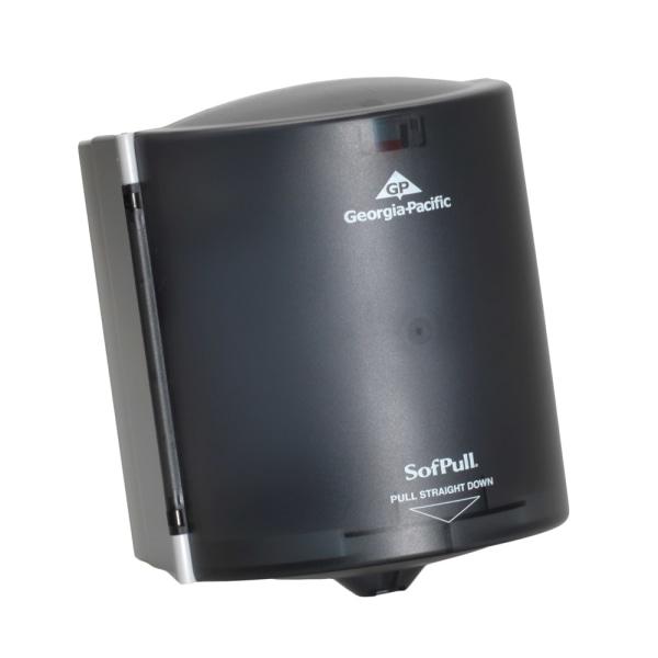 Center Pull Hand Towel Dispenser, 9 1/4w x 8 3/4d x 11 1/2h, Smoke