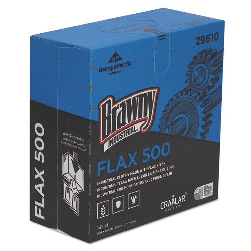 FLAX 900 Heavy Duty Cloths, 9 x 16 1/2, White, 72/Box, 10 Box/Carton