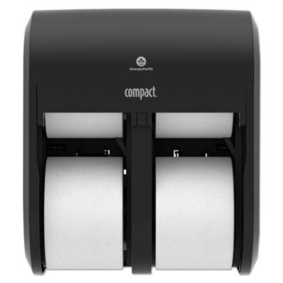 Compact Quad Vertical Four Roll Coreless Tissue Dispenser, 11.75 x 13.25