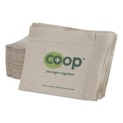 MorNap Jr. Full-Fold Dispenser Napkins, 1-Ply, 13 x 12, White, 600/Pack, 10/CT