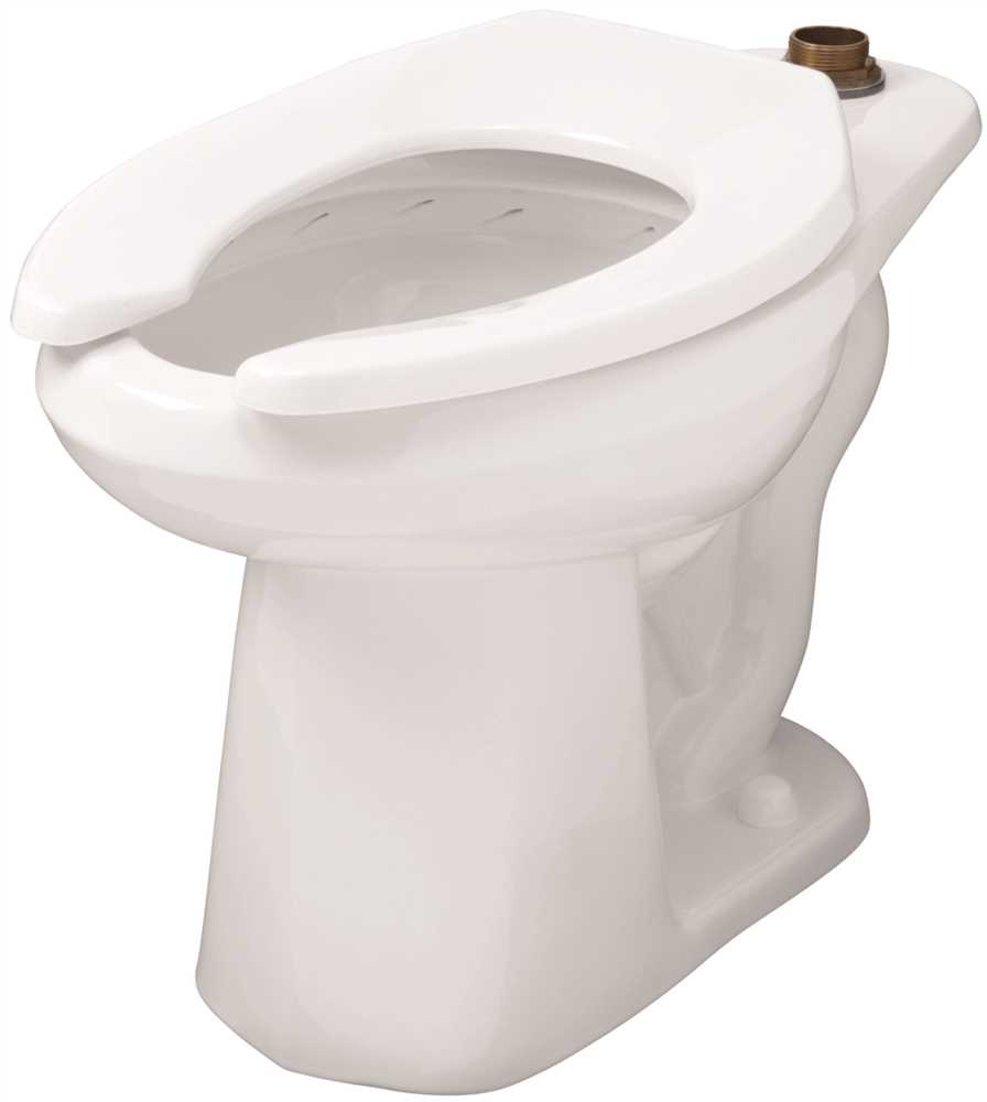 GERBER� NORTH POINT WATERSENSE� HIGH-EFFICIENCY ELONGATED TOP SPUD TOILET BOWL ONLY , ADA-COMPLIANT, WHITE, 1.28 GPF