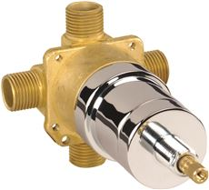 CERAMIC DISC CARTRIDGE PRESSURE BALANCE VALVE, IPS/SWEAT LESS STOPS, ROUGH BRASS