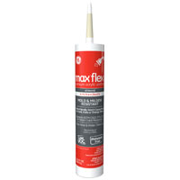 GE Max Flex Bath Siliconized Acrylic Sealant, 10.1 oz, Cartridge, Almond, Solid