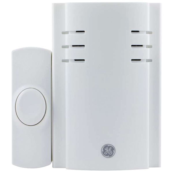 GE 19298 Push-Button Plug-In Door Chime with 2 Melodies