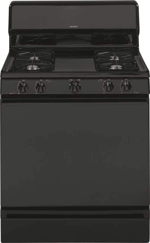 HOTPOINT� 30-INCH  4.8 CU. FT. FREE-STANDING GAS RANGE, BLACK