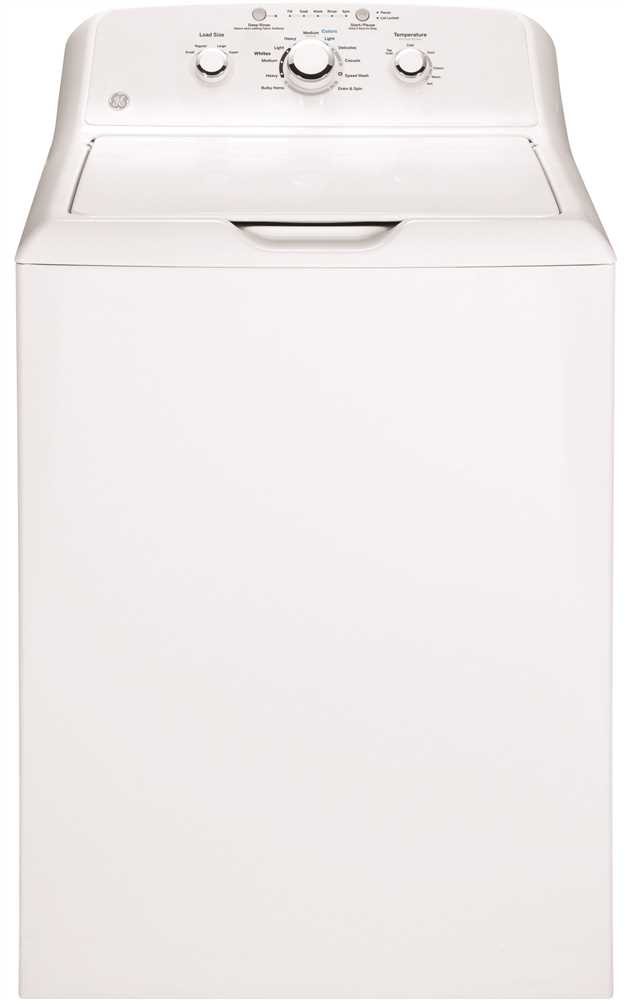 GE� 3.8 CU. FT. TOP LOAD WASHING MACHINE, WHITE, 12 CYCLES