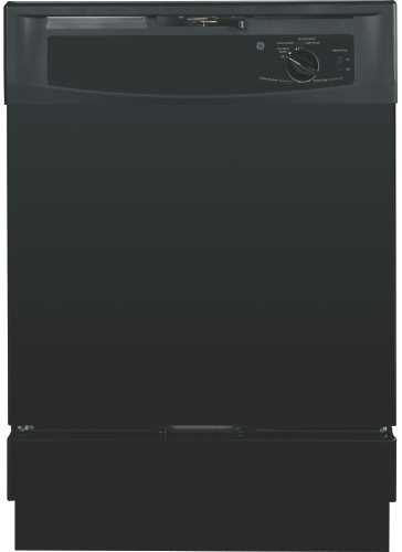 GE� BUILT-IN DISHWASHER , BLACK, 5 CYCLES / 2 OPTIONS