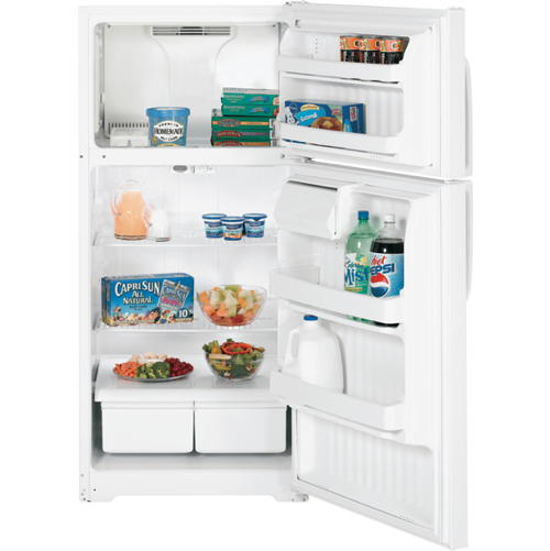 GE® Energy Star® 15.5 Cu. Ft. Top-Freezer Refrigerator, Bisque