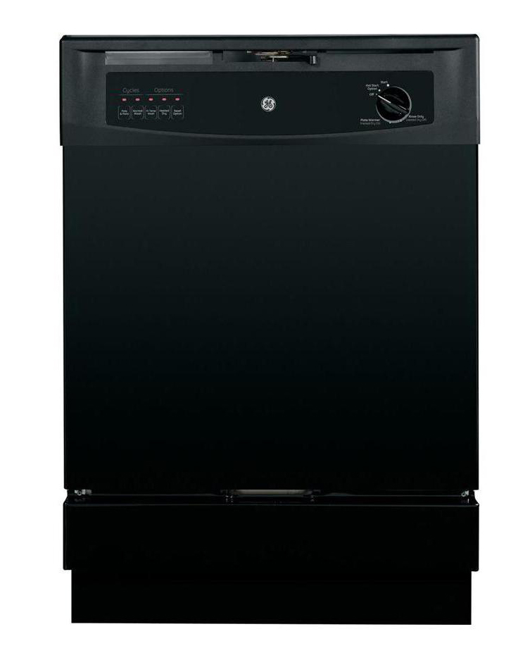 GE� BUILT-IN 24-INCH DISHWASHER, BLACK, 5 CYCLES / 3 OPTIONS