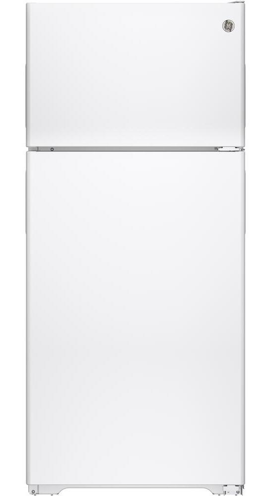 GE� ENERGY STAR� 15.5 CU. FT. TOP FREEZER REFRIGERATOR, WHITE, REVERSIBLE DOOR SWING