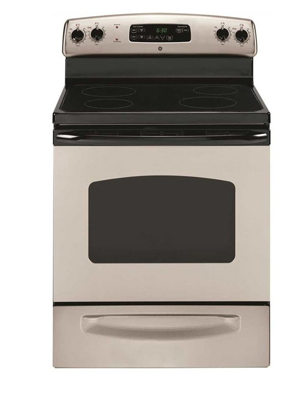 GE� 30-INCH 5.3 CU.FT. FREE-STANDING ELECTRIC RANGE, SILVER