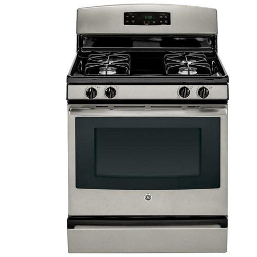 GE� 30-INCH 4.8 CU.FT. FREE-STANDING GAS RANGE, SILVER
